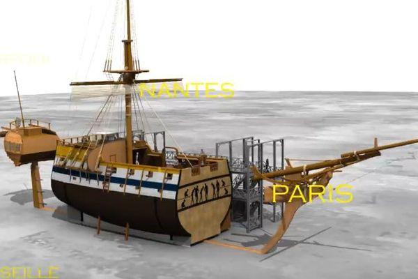 La Coque Nomade, le bateau musée itinérant de l'esclavage