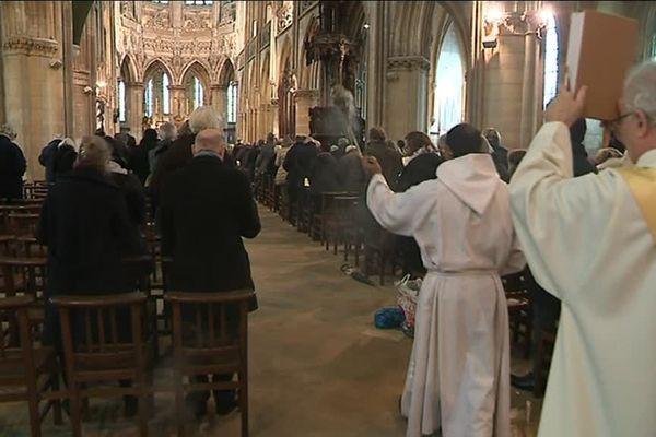 La messe célébrée le 25 décembre 2017 en l'église Saint-Pierre de Caen