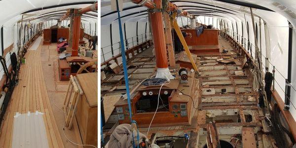 Restauration dans le port de Sète - Janvier 2018