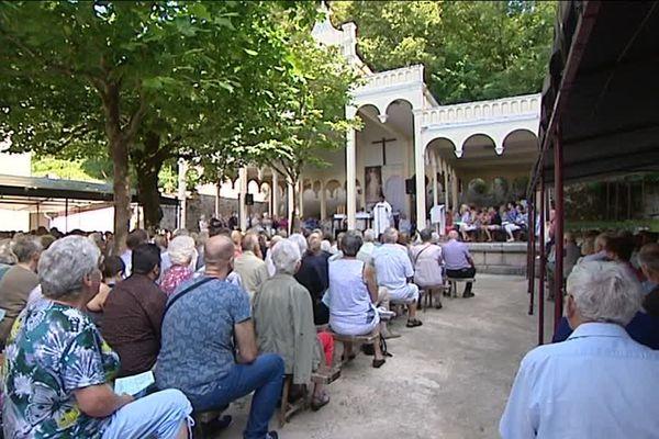 Célébration du 15 août, ce matin, à Notre Dame du Chêne, près d'Ornans