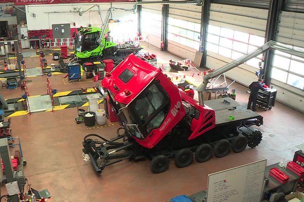 L'entreprise Kässbohrer E.S.E., basée en Savoie, souffre de la fermeture des remontées mécaniques.