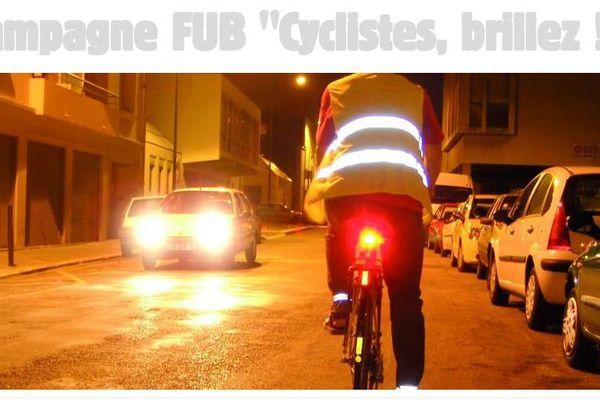 """La campagne FUB 2016 """"Cyclistes, brillez !"""" aura lieu entre le 7 et le 13 novembre"""