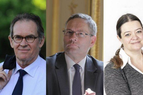 Alain Cadec (UMP), Gilles Lebreton (FN), Isabelle Thomas (PS), trois des elus européens de la circonscription ouest