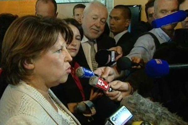 Martine Aubry ce mardi au 74e congrès de l'Union sociale pour l'habitat (USH) à Lille.