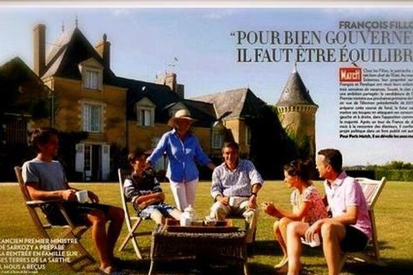 La résidence de François Fillon à Solesmes cet été dans les pages de Paris Match
