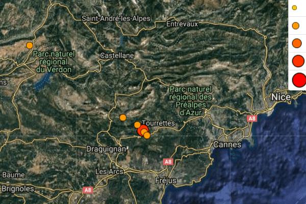 Le tremblement de terre a été ressenti dans les Alpes-Maritimes.