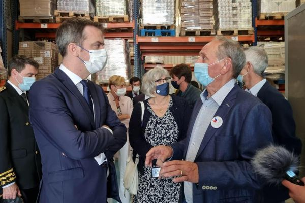 Le ministre de la Santé Olivier Véran était en visite à Annecy le 16 juillet 2021.
