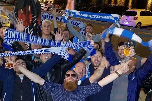 La troupe de supporters anglais, en septembre.