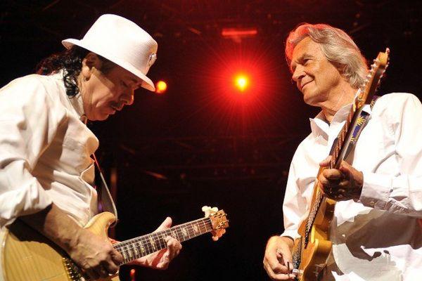 Carlors Santana et John McLaughlin à Montreux (Suisse)