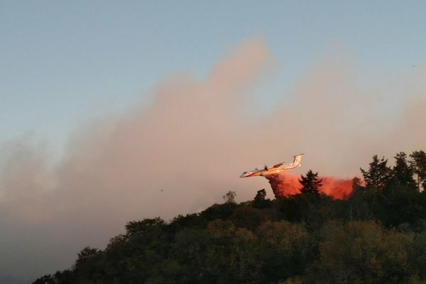 Un Dash en intervention sur un feu de forêt, le 19 septembre 2019 dans le nord de la Haute-Vienne