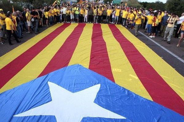 La manifestation du 11 septembre 2013 en faveur de l'indépendance de la Catalogne