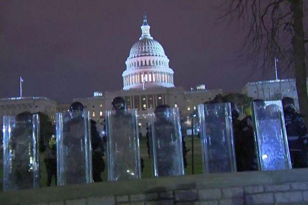 Washington (USA) - la Capitole sous haute surveillance après les manifestations meurtrières des pro-Trump - 6 janvier 2021.