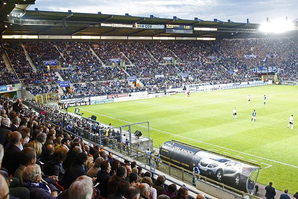 Le stade de la Meinau à Strasbourg lors du match contre Amiens vendredi 13 mai 2016.
