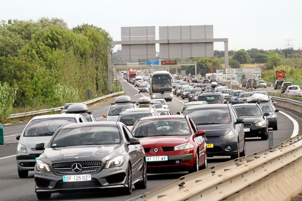 Embouteillages sur l'A9, dans l'Hérault, en 2014 (image d'illustration).