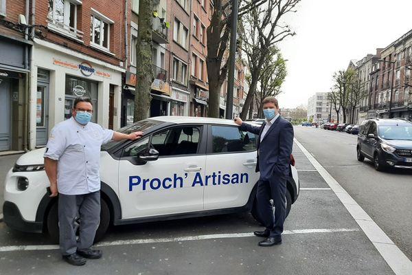 Proch'Artisan, une opération lancée par Laurent Rigaud (à droite), à la tête de la chambre de métiers et de l'artisanat Hauts-de-France.