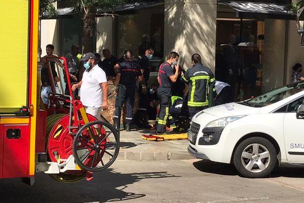 21/09/2020. Bastia : un homme tombe dans une bouche de canalisation.