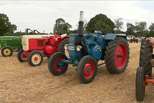 Les championnats régionaux de labours à l'ancienne sont l'occasion pour les passionnés d'exposer des machines qu'ils ont passé un nombre d'heures incalculables à retaper.