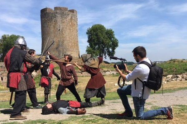 """Le dernier épisode de la saison 1 de la web série """"Galéjade & Calembour"""" tourné au château de Guise le samedi 4 août 2018"""