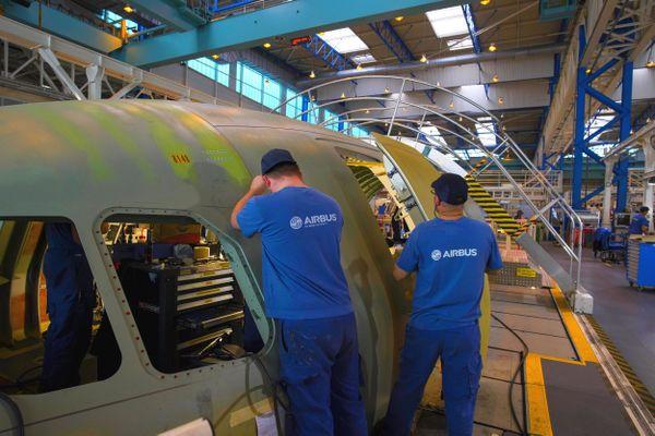 L'établissement Airbus à Montoir-de-Bretagne en Loire-Atlantique