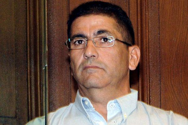 Meziane Belkacem, le 27 septembre 2010 dans le box des accusés au début de son procès au palais de justice de Montpellier.