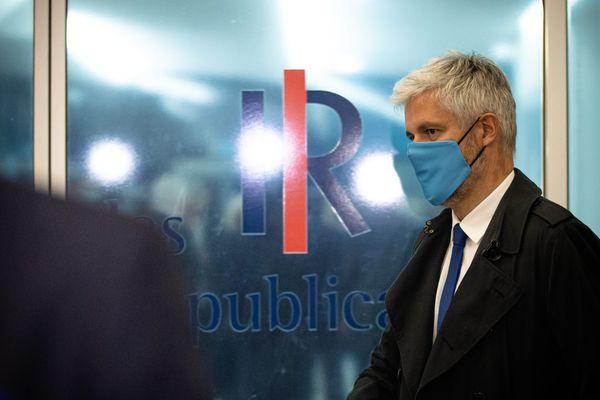 Laurent Wauquiez au siège du parti Les Républicains à Paris, le 4 mai 2021.
