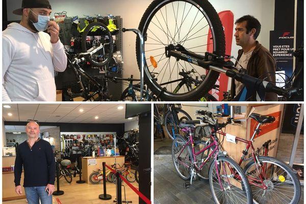 Lancement du Chèque réparation vélo de 50 euros.  Atelier Free Wheel - Saint-Jean-de-Blanc (Loiret) /Jour 2 du déconfinement. 12 mai 2020