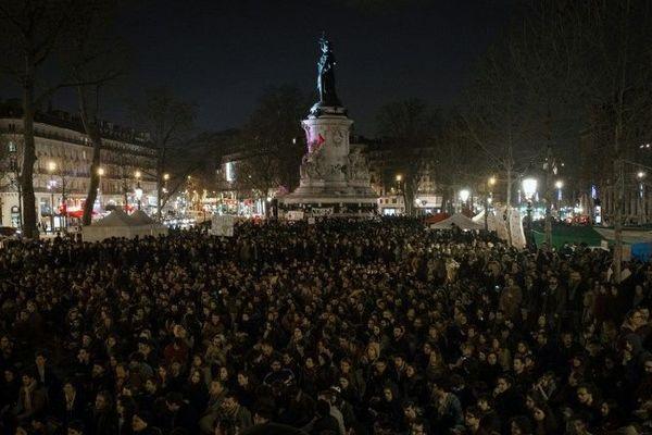 Illustration : le mouvement Nuit debout place de la République à Paris le 5 avril 2016.