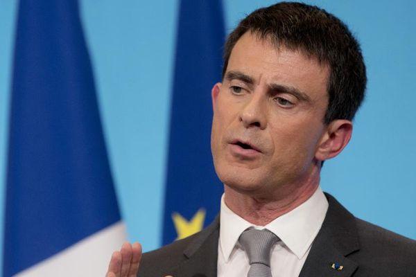 Le Premier ministre, Manuel Valls, lors d'une conférence de presse, à Paris, le 6 mars 2015.