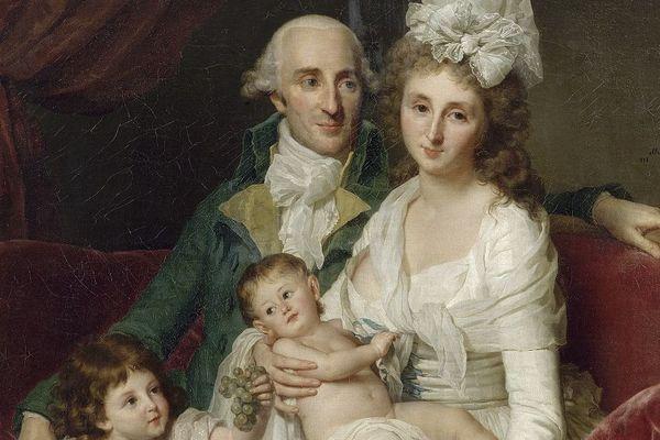 Marie Geneviève Bouliard - Portrait de Monsieur Olive, trésorier des États de Bretagne et de sa famille - 1791 ou 1792, Nantes, Musée d'arts