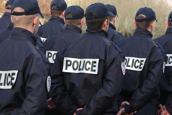 Des policiers à Montbéliard, image d'illustration.