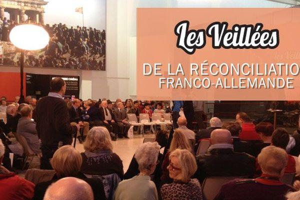 Deuxième veillée de la réconciliation franco-allemande, mardi 15 avril 2014 à Deauville (Calvados)