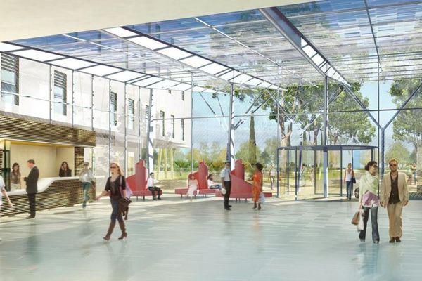 Une simulation du projet du nouvel hôpital de Montauban - archives.
