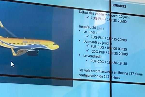La compagnie ASL Airlines France assurera des vols réguliers entre Pau et Paris du lundi au vendredi à partir du 10 juin