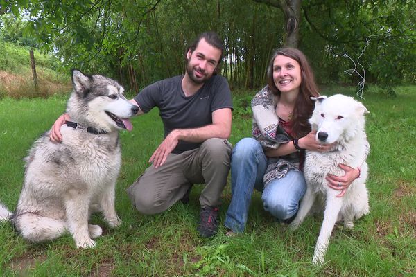 """Gaëlle, Emilien et leurs chiens Malo et Mojo sont de retour à Feurs, dans la Loire, après deux ans d'un voyage """"initiatique"""" en Mongolie."""