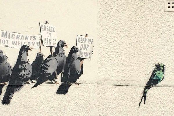 Ce graffiti de Banksy n'a pas plu à tout le monde à Clacton-on-Sea.
