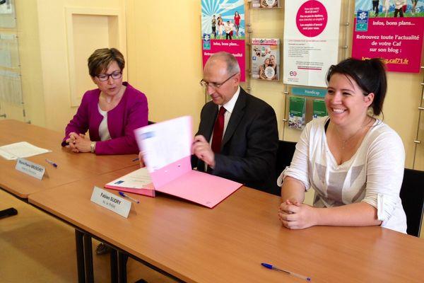 Le contrat a été signé en présence du Préfet de Saône-et-Loire Fabien Sudry
