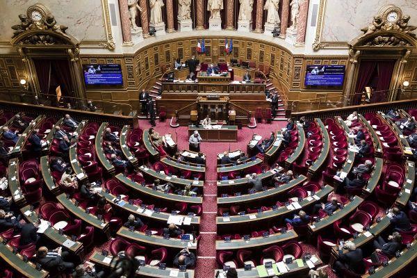 L'hémicyle du palais du Luxembourg.