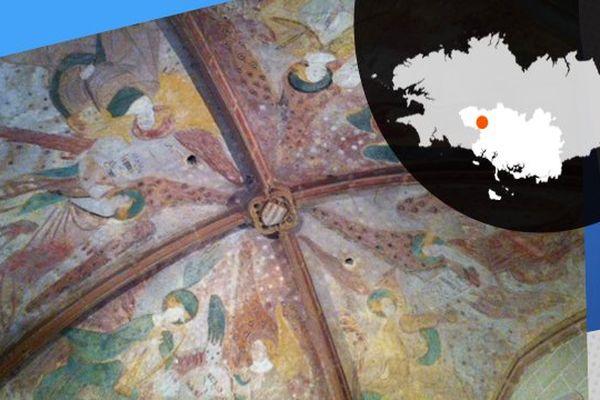 La voûte de Notre-Dame à Kernascléden et ses peintures