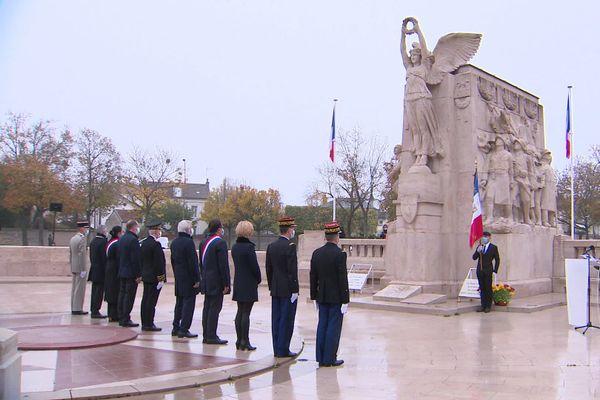 La cérémonie du 11-Novembre s'est faite en petit comité à Dijon.