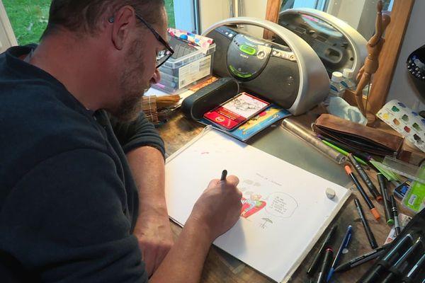 Fred Thelmo a publié un nouveau dessin chaque jour du confinement.