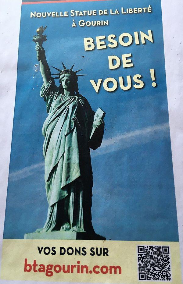 Appel aux dons pour la nouvelle statue de la Liberté, juin 2019