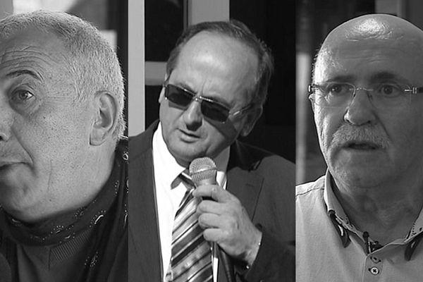 Pierre Ghionga, Pierre Guidoni, Francis Giudici, candidats dans la 2ème circonscription de Haute-Corse