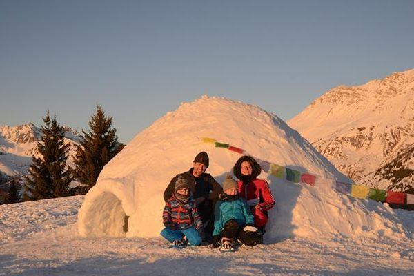 Fabien Salomon et sa famille ont réveillonné dans un igloo.