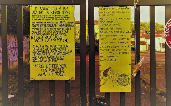 Les gestes barrières ne sont pas pris à la légère au squat de l'avenue de la Révolution à Limoges