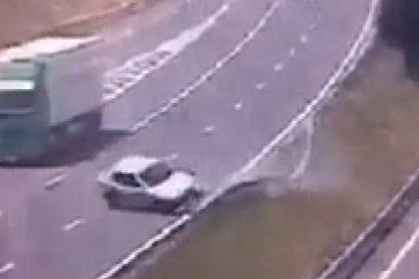 Carcassonne - accident sur l'A.61 - 29 mai 2015.