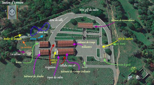 Reconstitution des locaux de la Section d'Epreuves de la Légion Etrangère, effectuée à l'aide des souvenirs d'ex-légionnaires