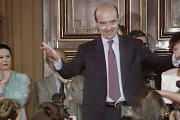 Alain Juppé lors de son élection en 1995