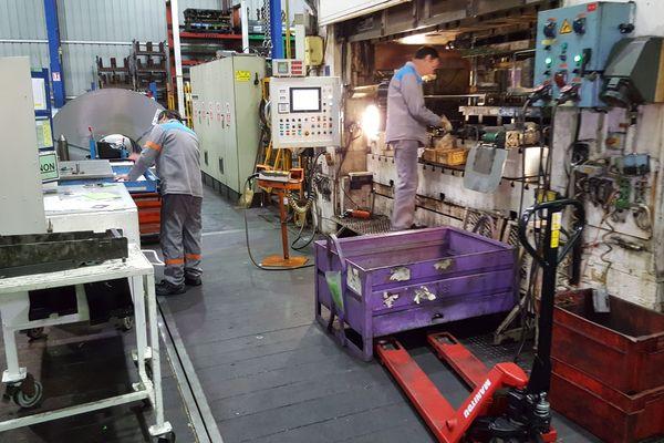 Atelier du site industriel de LSI (La Souterraine industrie), ex GM&S.