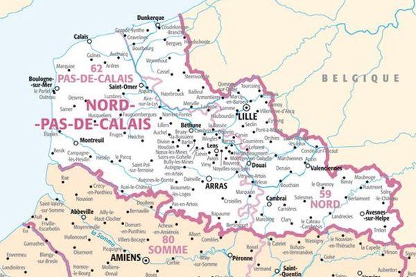 La carte du Nord Pas-de-Calais ne changera pas.