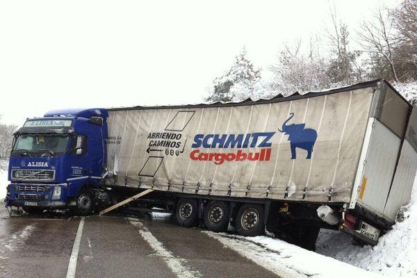 Un camion au fossé entre Bellac et La Souterraine bloque la RN 145